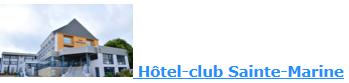 réservation à l'Hôtel Sainte-Marine à Morgat